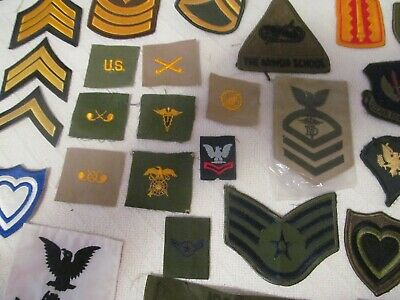 $9.99 • Buy Huge Lot Of 48 Diff. Military Patches;  Army,navy, Marines, Air Force;lot # 4