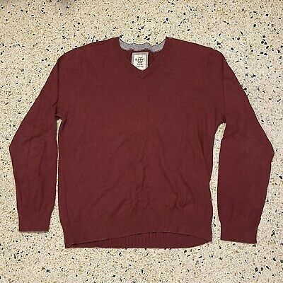 $13.99 • Buy Old Navy Sweater Mens Large Red Long Sleeve V Neck Machine Washable Pullover