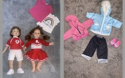 """£15 • Buy Smoby Large Toddler Dolls 24"""" Roxanne & Roby Twin Dolls With Shoes & Clothes"""
