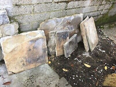 £45 • Buy 8 No SMALL MED YORK STONE FLAGS SLABS PAVING