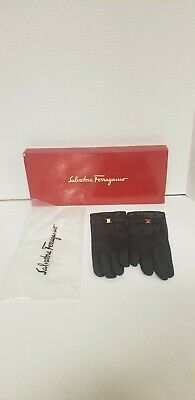£68.33 • Buy Vintage Salvatore Ferragamo Black Leather Size 6.5 Leather Gloves. Made In Italy