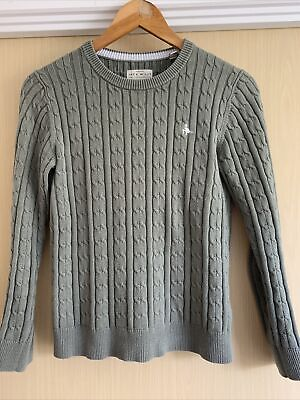 £1.70 • Buy Jack Wills Green Cable Jumper Sweater Size 10