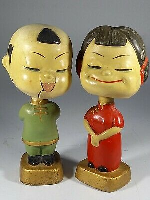 £15 • Buy Pair Of  Odorable Vintage Asian Chinese  Bisque  Bobble Head Nodders