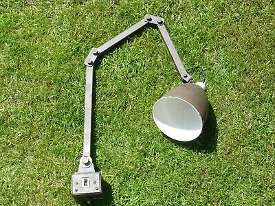 £30 • Buy Vintage Industrial MEMLITE Machinists Factory Anglepoise Machine Lamp