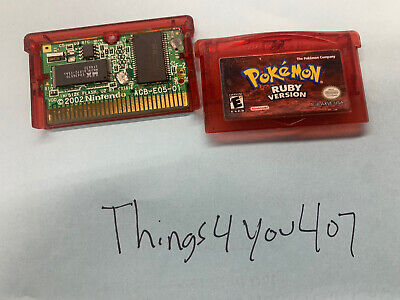 $65 • Buy Pokemon Ruby Version Authentic For Parts Or Repair Works Great But Battery Miss