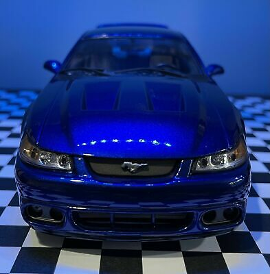 $200 • Buy 1/18 Maisto 2003 Ford Mustang Cobra Coupe - Sonic Blue (Authentic SN Paint Code)