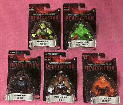 $27 • Buy Masters Of The Universe Revelation Eternia Minis Complete 5 Figures Lot Mattel!!