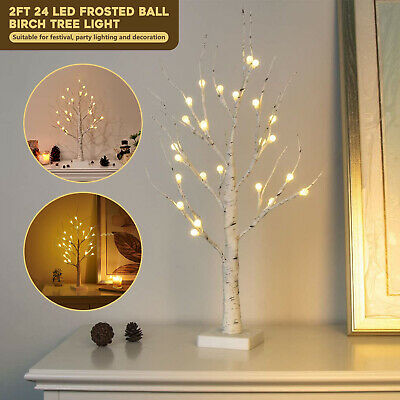 £9.99 • Buy 24LED Twig Birch Table Tree Lights Up Holiday Christmas 2FT Branch Lamp Decor UK