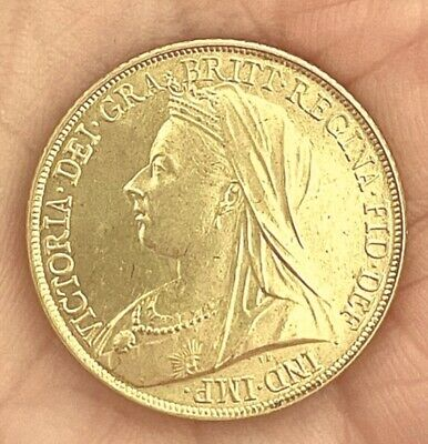 £5 • Buy 1896 Queen Victoria Old Head Sovereign ~ Gold Plated Coin