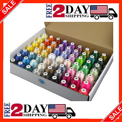 $54.99 • Buy Simthread 63 Brother Colors Polyester Embroidery Machine Thread Kit 40 Weight Fo