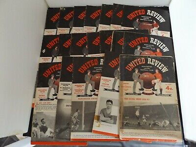 £10 • Buy COLLECTION OF 19 X MANCHESTER UNITED HOME PROGRAMMES 1956 To 1966
