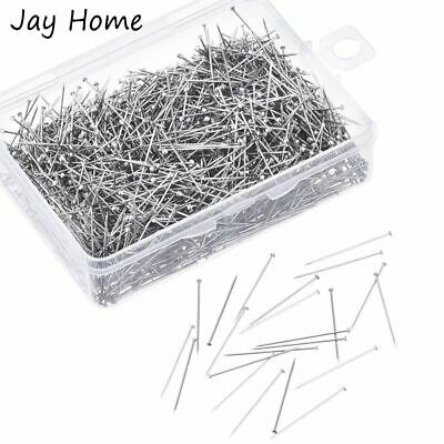 £4.28 • Buy Sewing Pins Dressmaker Straight Quilting Fine Satin Head Jewelry Embroider Tools
