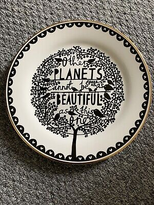 """£37 • Buy Rob Ryan 10.5"""" Plate Other Planets Cannot Be As Beautiful As This One - 2010"""