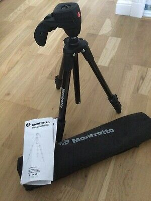£10 • Buy Manfrotto Compact Tripod With Carry Bag