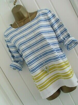 £2.95 • Buy Joules - Harbour Striped 3/4 Sleeve Jersey Top Size 14