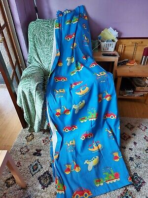 £5 • Buy Boys Blue Colour With Transport On Curtains