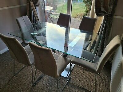 £120 • Buy Glass Dinning Table And 6 Chairs