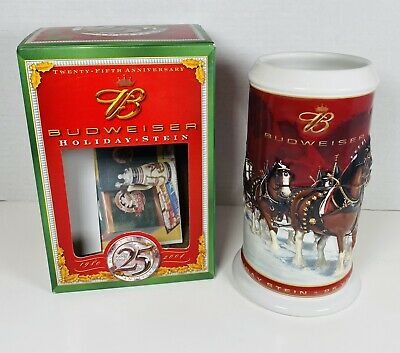 $ CDN12.48 • Buy Budweiser 25th Anniversary 1980~2004 Clydesdale Collectible Holiday Stein