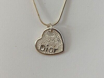 £1.20 • Buy Silver 925 DIOR Pendant On A 54cm Sterling 925 Silver Necklace Weight 9g