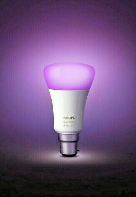 AU49.56 • Buy Philips Hue B22  White And Colour Light Bulb (Unboxed) Not Bluetooth