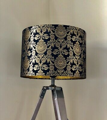 £24.99 • Buy New Premium Luxury Quality Golden Embroidery Lamp Shade Pendant Shade Gold Black