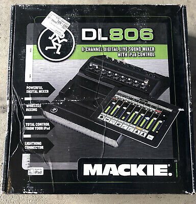 $555 • Buy Mackie Lightning Connector DL806 Digital Live Sound Mixer With IPad Control