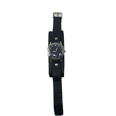 $36 • Buy Fossil Big Tic Cuff Leather Band Men's Quartz Watch JR-8621 Animated Seconds