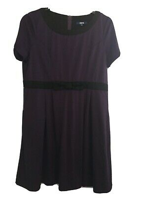 £0.99 • Buy Size 20 Day Dress In Two Tone Black And Purple