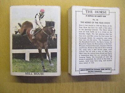 £16 • Buy Anglo American Chewing Gum Cards - The Horse - Full Set Of 66 - Circa 1966