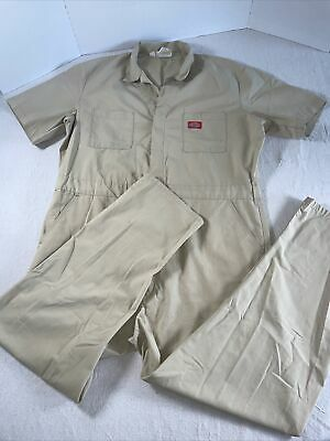 $29.90 • Buy DICKIES Workwear S/S Cotton Work Coveralls Jumpsuit Mens Size 46 Khaki