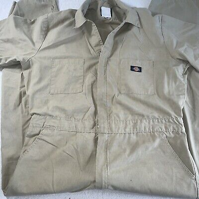 $29.90 • Buy DICKIES Workwear S/S Cotton Work Coveralls Jumpsuit Mens Size 40 Khaki