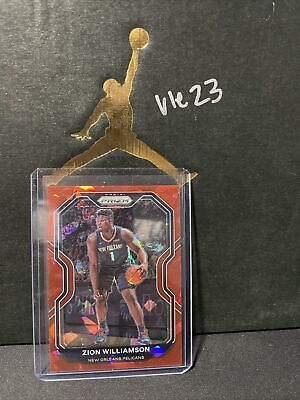 $20 • Buy Zion Williamson 2020-21 Panini Prizm RED CRACKED ICE #185 New Orleans Pelicans