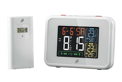 £22.99 • Buy Auriol Radio Controlled Weather Station - Temp, Humidity - White - Free Delivery