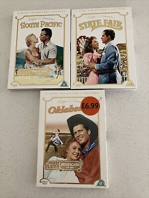 £3.99 • Buy Job Lot Bundle 3 Hollywood Musicals- Oklahoma, State Fair, South Pacific DVDs