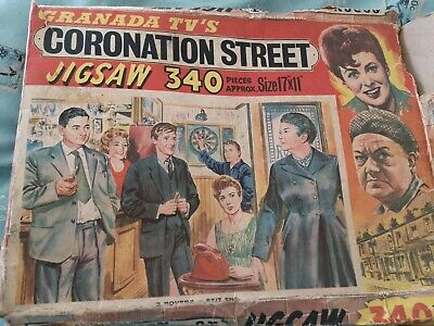 £3.90 • Buy Vintage 60s Coronation Street Jigsaw (Pieces Missing)
