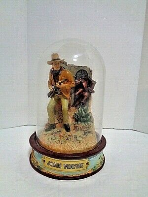$22.49 • Buy FRANKLIN MINT JOHN WAYNE HAND-PAINTED SCULPTURE LIMITED EDITION W/GLASS DOME