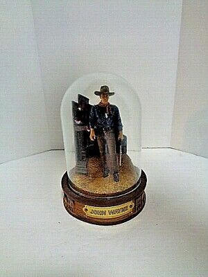 $22.50 • Buy Limited Edition John Wayne Hand Painted Sculpture With Glass Dome Rifle
