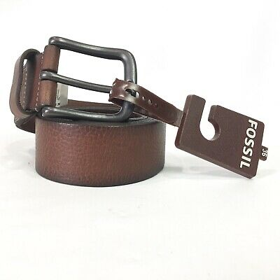 $24.99 • Buy Fossil Mens Size 36 Belt Hanks Brown Leather 1.5 Inch Wide NWT