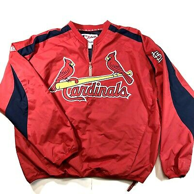 $27.99 • Buy Majestic St Louis Cardinals 1/4 Zip Pullover Jacket Mens Size XL MLB Authentic