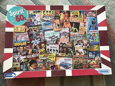 £10 • Buy 1000 Piece Jigsaw Puzzle  Spirit Of The Sixties  60's Icons Gibsons