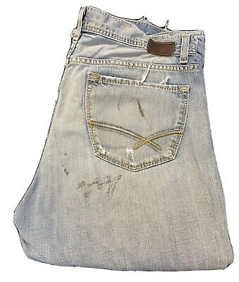 $19.99 • Buy Buckle BKE Tyler Mens 36 Distressed Blue Jeans 100% Cotton 36X34