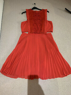 £8 • Buy Asos Size 14 Red Dress With Cut Out Party/occasion Wear
