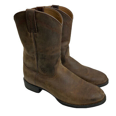 $54.95 • Buy Ariat Mens Heritage Roper Boots 11D Brown Distressed Round Toe Western