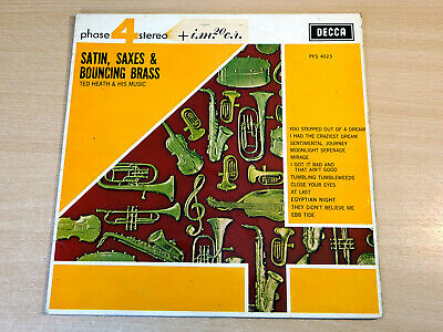 £7.99 • Buy EX- !! Ted Heath & His Music/Satin Saxes & Bouncing Brass/1962 Decca Stereo LP