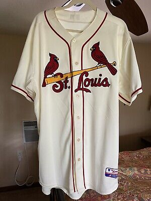 $5.50 • Buy St Louis Cardinals Jersey Majestic Cool Base Stan Musial #6 Authentic Collection