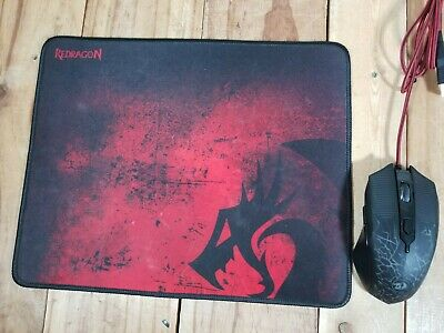 AU30.11 • Buy Redragon 3200DPI Wired Optical Gaming Mouse Model S107 And Mousepad Pre-owned!