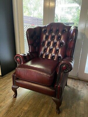 AU1495 • Buy Chesterfield Prince Of Wales Wing Armchair - Australian Made - Vintage