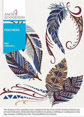 $13.99 • Buy Anita Goodesign Feathers Embroidery Machine Design CD NEW