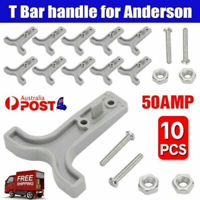 AU12.93 • Buy 10PCS Grey T Bar Handle For Anderson Style Plug Connectors Tool 50AMP 12-24V