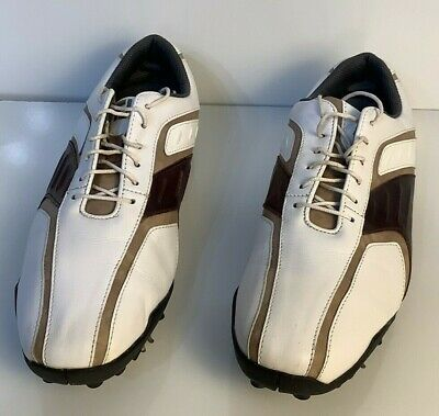 $32.99 • Buy FootJoy Mens SuperLites Golf Shoe 58092 (White/Brown/Taupe) Size 10.5 W       F1